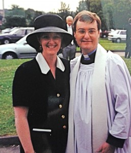 When Nicholas was ordained a priest, which happens a year after being ordained a deacon (who knew it was so complicated?). I know, the hat; what was I thinking? Nice photobomb too.