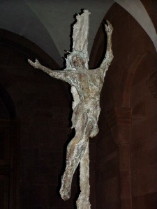"""Christus"" by Karlheinz Oswald, 1998 in Mainz Cathedral, Germany. I was unexpectedly moved by this sculpture when we visited in 2006."