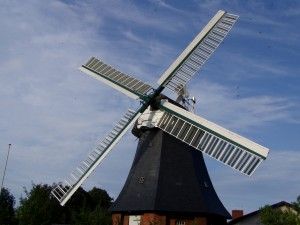 My great-grandfather was a pilgrim to a strange land. In 1898 he left Germany for America, having to renounce his German citizenship. This windmill was built in the village he lived in before he was born, which we visited in 2006.