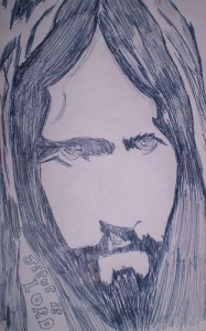 Jesus sketch found on flickr by EvelynGiggles