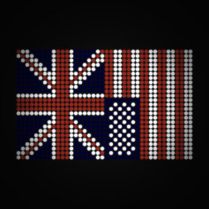 Photo credit:  UK & USA Flags - Dot Matrix by gavjof on flickr