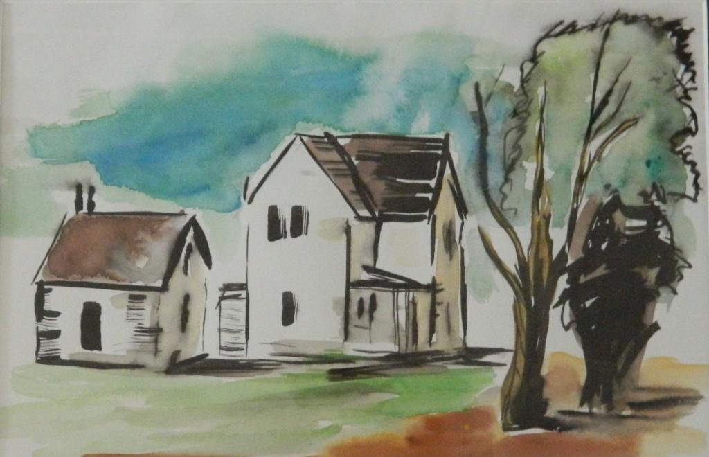 Original watercolor by Leo Boucher.