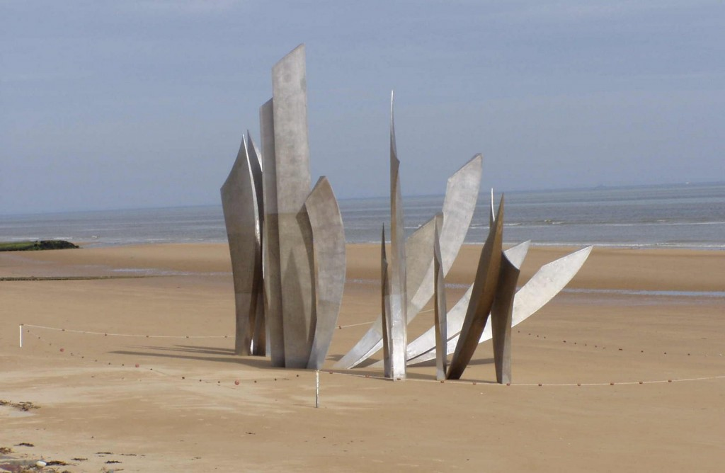 The memorial on Omaha Beach.