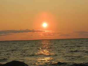 Sunset over Mille Lacs Lake.