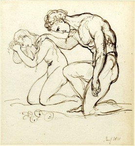 """Adam and Eve"" by George Hayter - British Museum (public domain)"