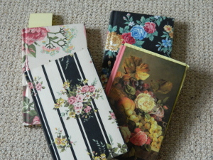 Previous incarnations of spiritual journals - I used to love the girly flowery books.
