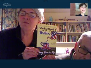 A Skype call of Alex Ward's mum and son. I love this on so many levels. Alex was one of my answers to prayer in Epsom when I was longing for friends. She's moved around a lot since then, from the Netherlands to Budapest and now to Texas.