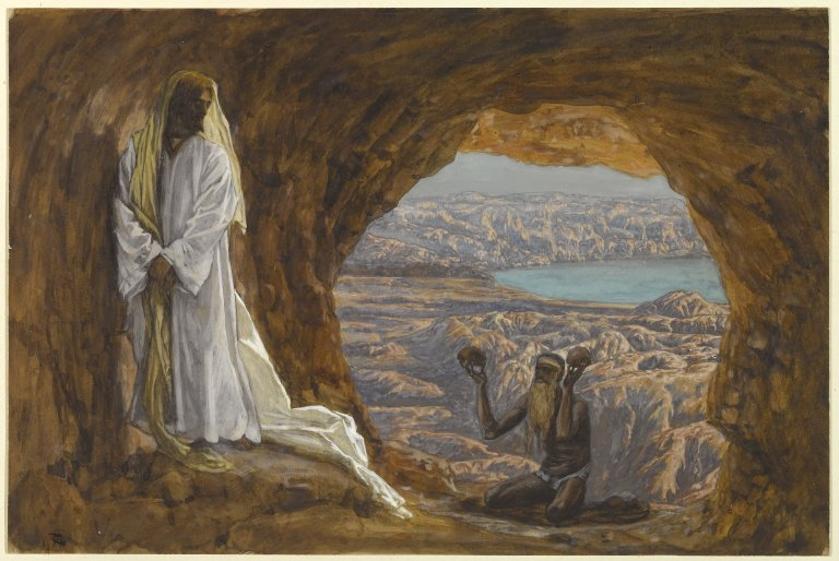 Jesus Tempted in the Wilderness (Jésus tenté dans le désert) by James Tissot - Online Collection of Brooklyn Museum