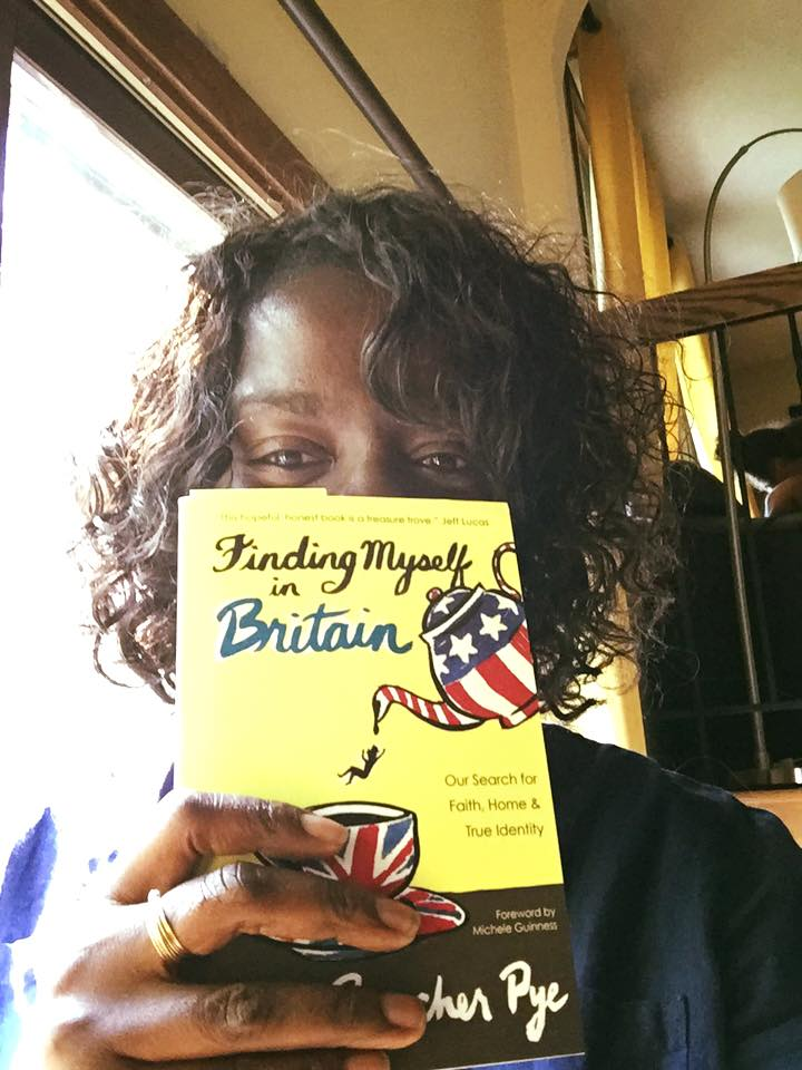 Jo Saxton, who lives a parallel life in my hometown. Our chapter in Finding Myself in Britain is one of my favorites.