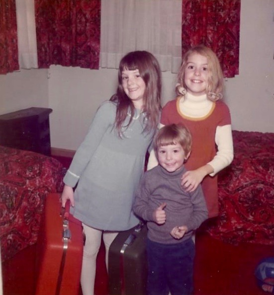 Me with my sister and brother. The traveling bug seems to be planted early!