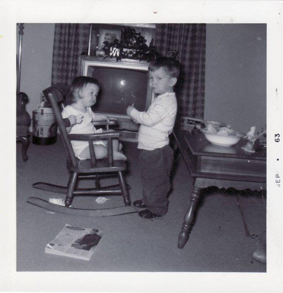 Me as a baby with my older brother! We loved potato chips!