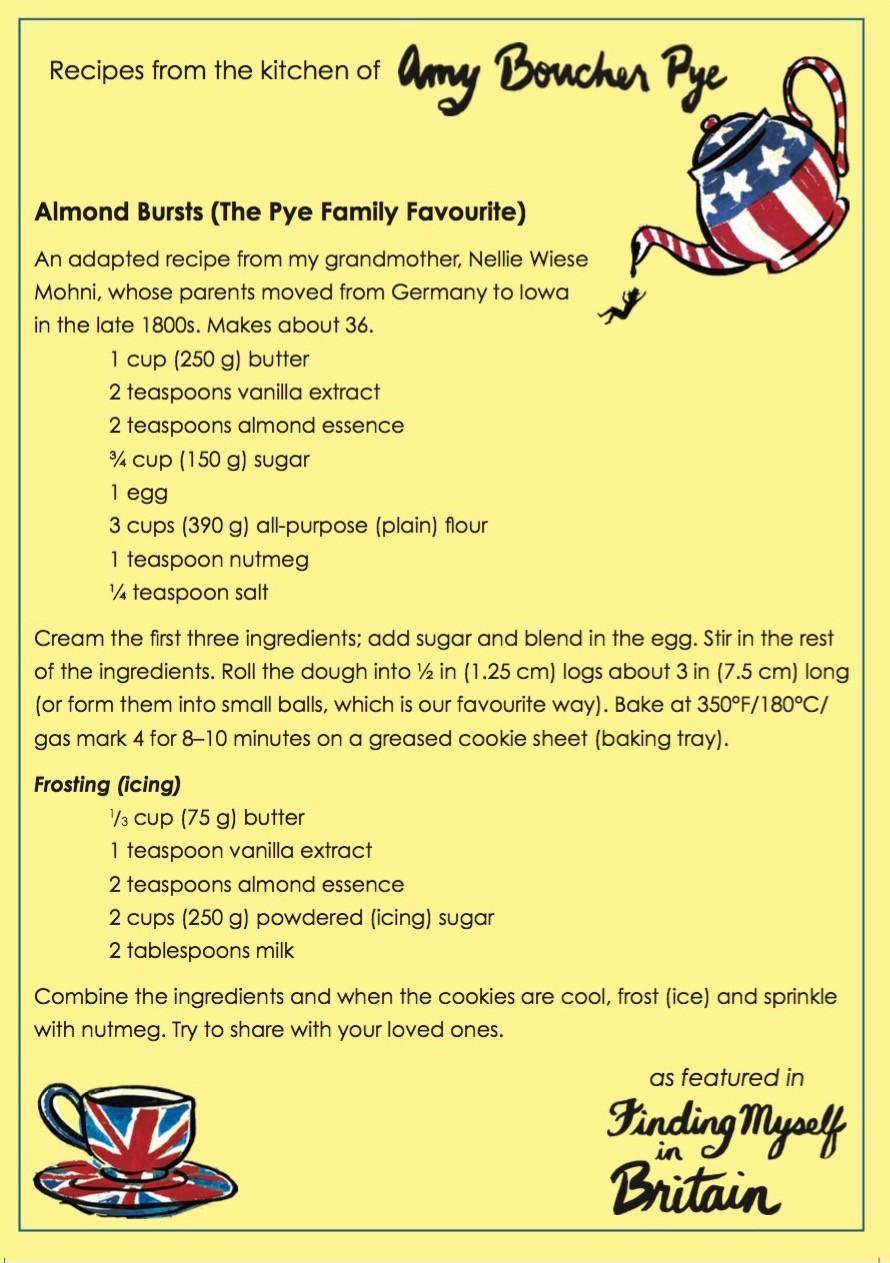 Almond Bursts Recipe Card
