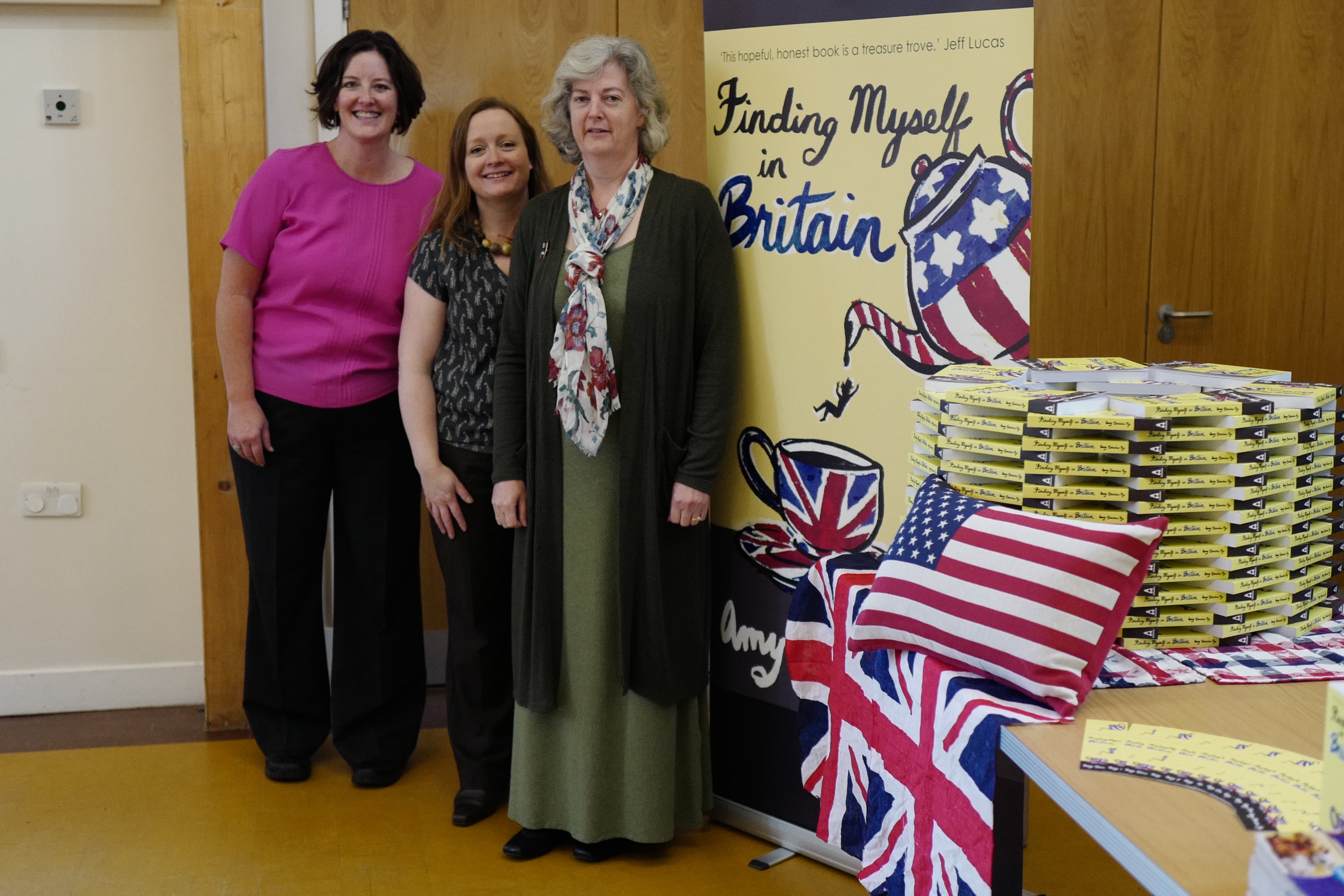 Me with Kate Beaton and Becky Fawcett, she of editorial fame, at my book launch, September 2015.