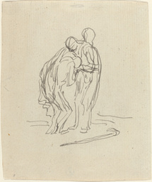 Honoré Daumier (French, 1808 - 1879), The Prodigal Son, pen and black ink with wash on laid paper, Rosenwald Collection
