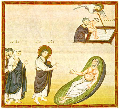 Photo: Healing at Bethesda. Author unknown (public domain).