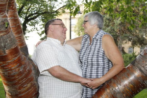 Sue and her husband Howard, celebrating their 40th wedding anniversary. This sweet picture captures their spirit.