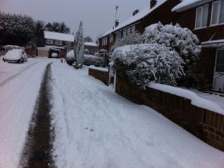 Our street in the UK one winter!