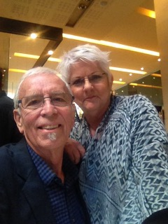 Rick and Bev on their 44th wedding anniversary, out at the Hilton.