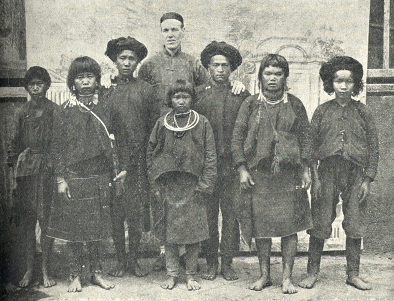 James Fraser and some of the people he introduced to Christ.