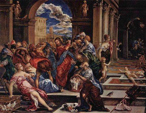 El Greco, Christ driving the traders from the temple (public domain)
