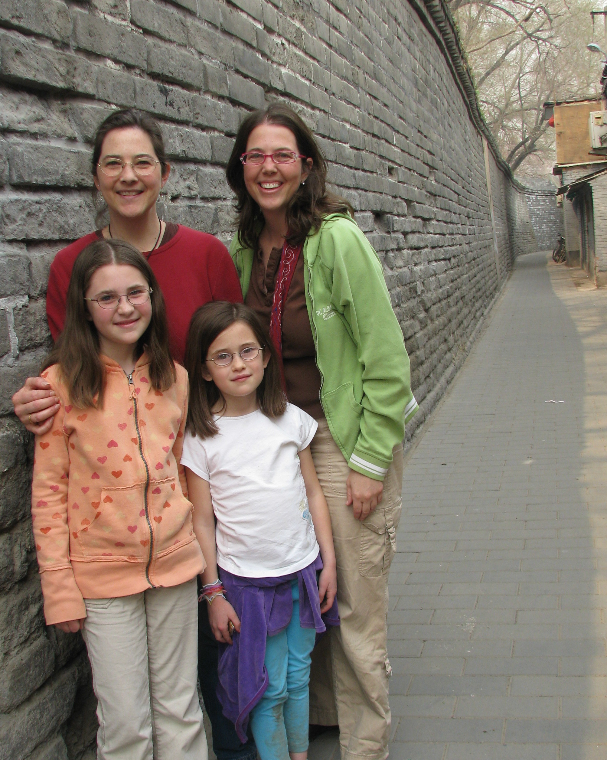 One of my great joys was that most of my family got to visit me in China. My sister and nieces and I are in one of the old lanes of Beijing.