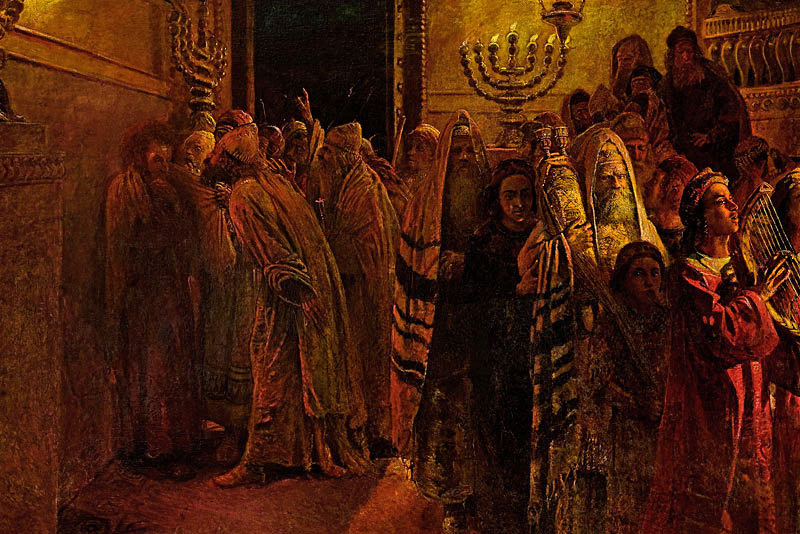 'The Judgment of the Sanhedrin: He is Guilty!' by Nikolai Ge, public domain