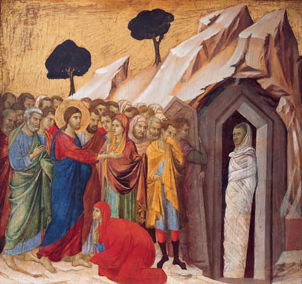 The Raising of Lazarus' by Duccio di Buoninsegna, 1310–11