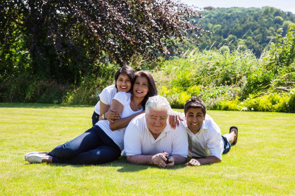 Shaneen and her family - true Londoners.