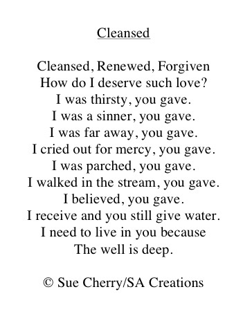 Cleansed by Sue Cherry