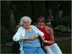 Me and my grandmother - the last time I saw her, and my last (treasured) photo with her.