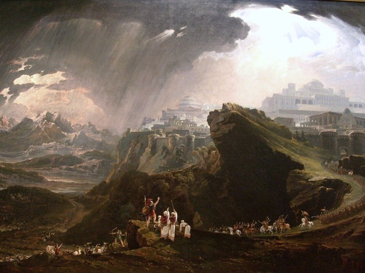 Joshua Commanding the Sun to Stand Still upon Gibeon by John Martin. Public domain.
