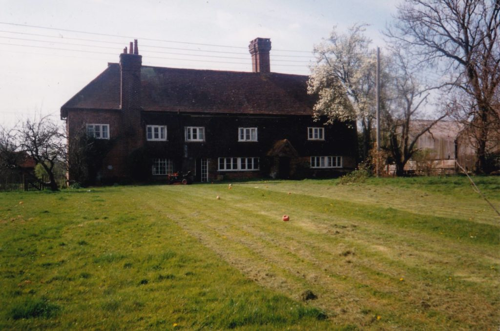 The home where I grew up in Sussex.