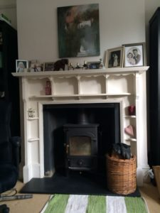 Our lovely wood-burning stove.