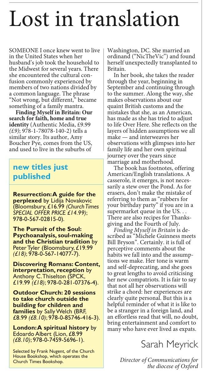 Church Times, 6 March 2016