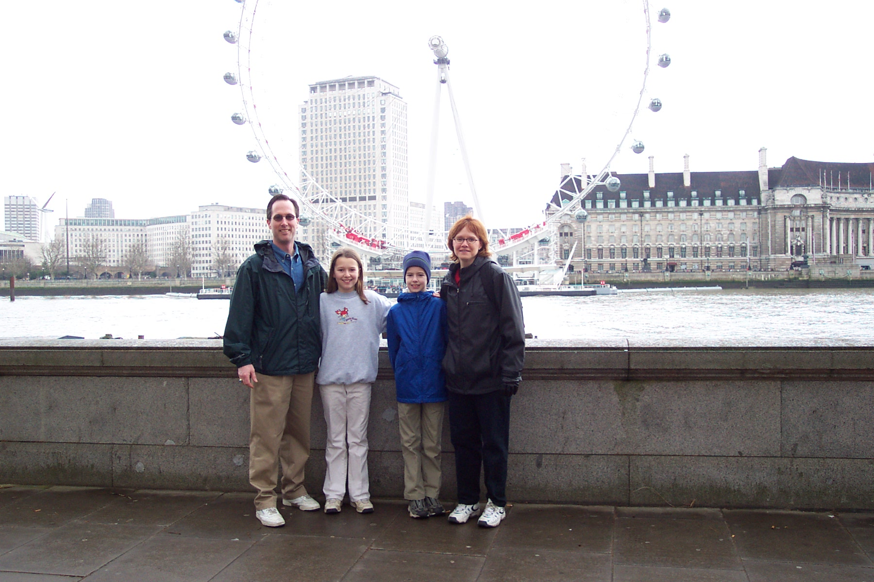 Me and my family on a trip to London.