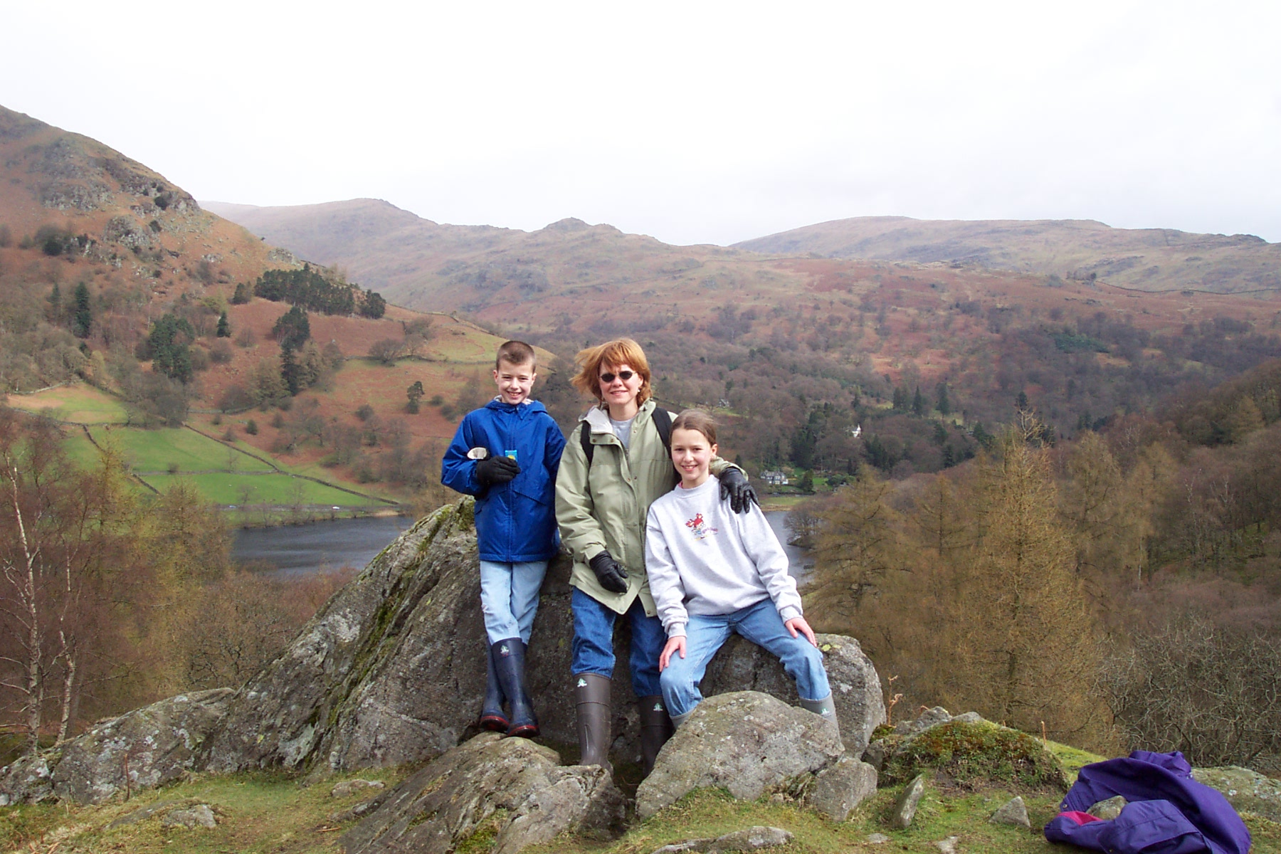 On a ramble with my children, Melissa and Patrick, in the Lake District.