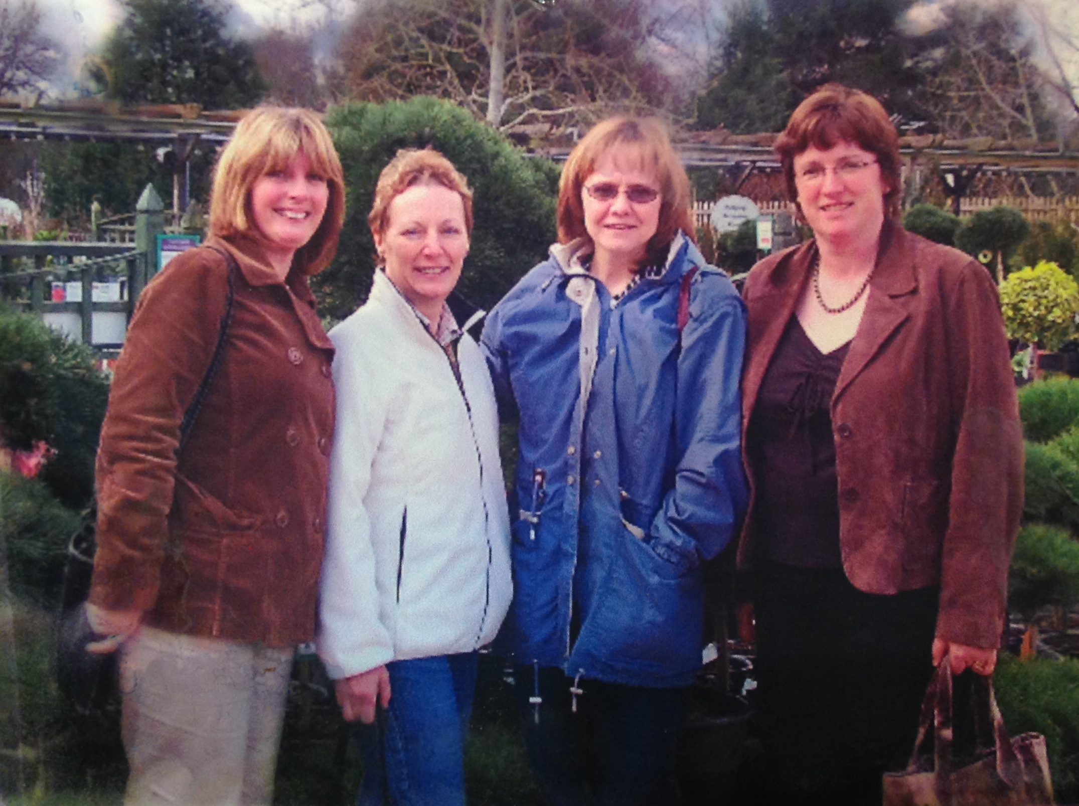 Eileen, Kathryn, me and Doranne on a visit back to England - my wonderful British friends.