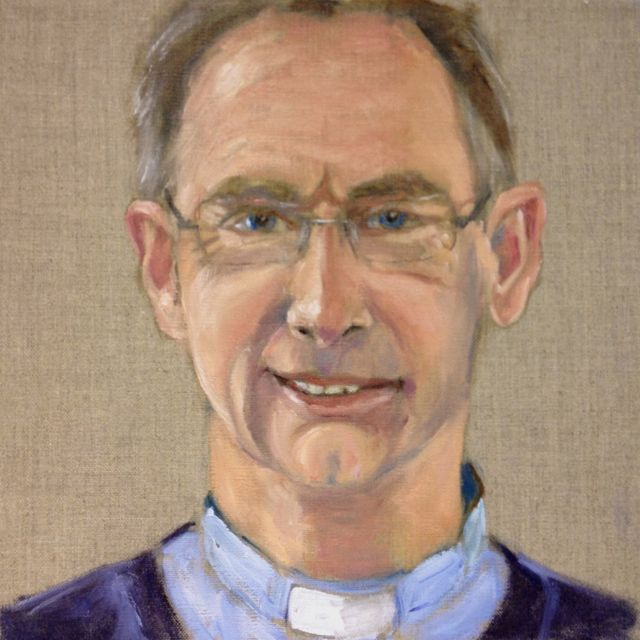 This is my portrait of our vicar, Graham Burrows.