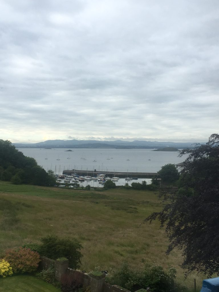 The view from home in Aberdour.