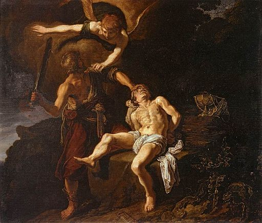 Pieter Lastman: The Angel of the Lord Preventing Abraham from Sacrificing his Son Isaac