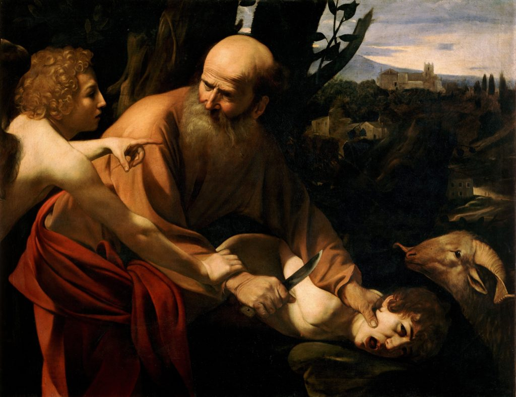 Sacrifice of Isaac by Caravaggio