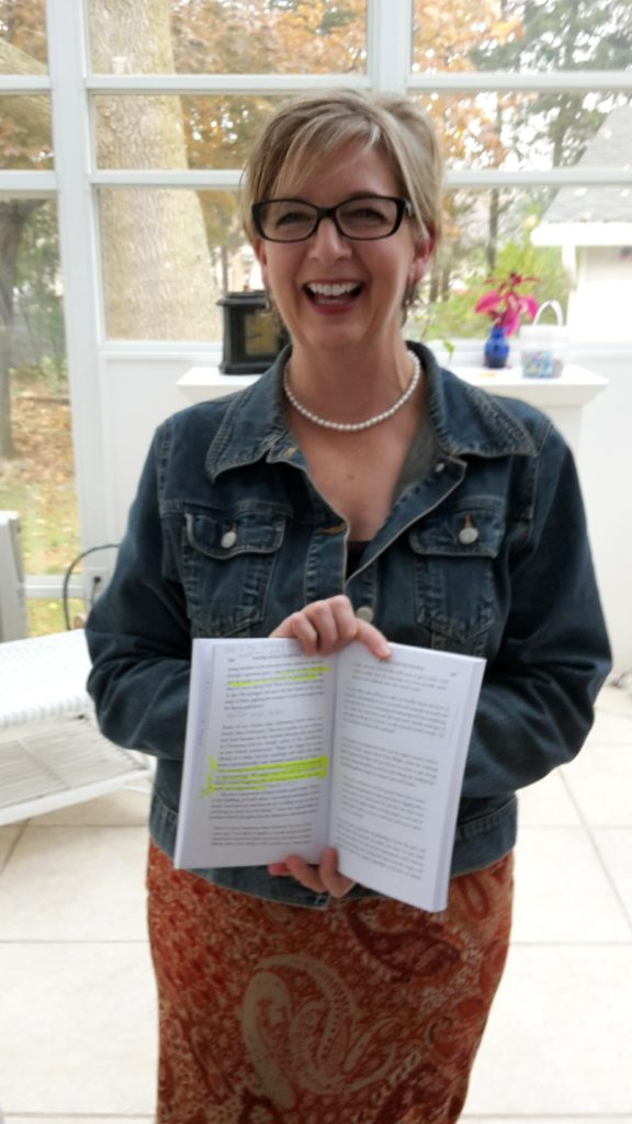 What a huge delight to meet Gail Helgeson! She's been a massive encouragement to me online. Here she is holding her underlined and highlighted copy of Finding Myself in Britain. How humbling is that!